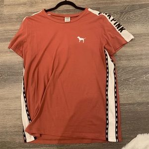 orange/ tannish t-shirt from pink
